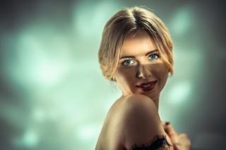 girl, eyes, photo, positive
