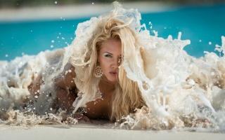 Blondie, posing, wave, view, beautiful