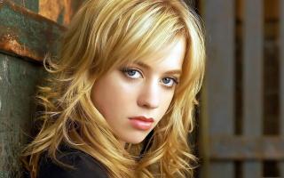 blonde, beauty, long hair, view