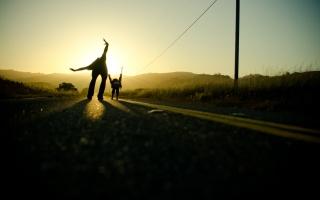 люди, батько, дочка, фото, позитив, природа, дорога, красиво, літо