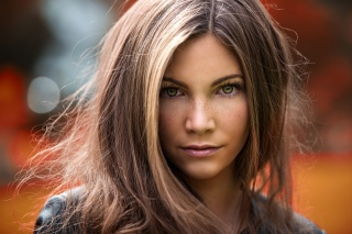 girl, model, portrait, face, hair, view