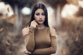 девушка, брюнетка, фотограф, Alessandro Di Cicco, модель, макияж, взгляд