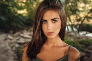 девушка, портрет, модель, лицо, волосы, взгляд