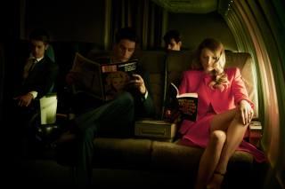 чоловіки, Лілі Дональдсон, літак, дівчина, салон, журнал