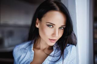 Denis Petrov, Ангеліна Петрова, дівчина, модель, брюнетка, погляд