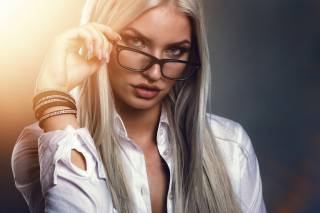 жінки, особа, glasses, women with glasses, sensual gaze