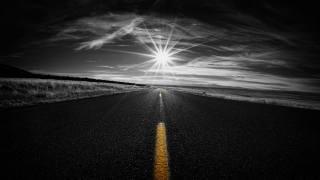 road, asphalt, the sun