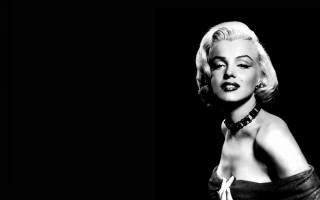 мерилін монро, знаменитість, дівчина, чорний фон