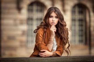 дівчина, портрет, фотограф, Lods Franck, модель, красива, шатенка, погляд