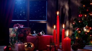свічки, подарунки, ялинка, Іграшки, настрій
