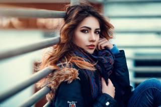 girl, model, photographer, Alessandro Di Cicco, portrait, красуня, карі очі, погляд