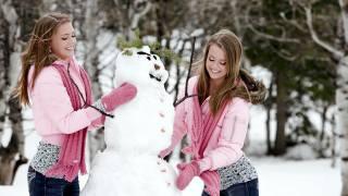 сніговик, дівчата, настрій