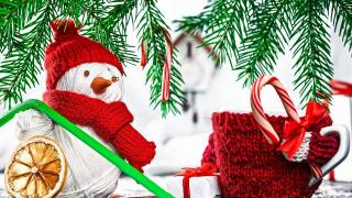 Новий рік, сніговик