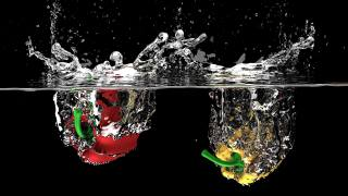 fruit, liquid, water, nature, the fall, bubbles, the spray of water