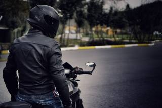 мотоцикл, yamaha, мужчина, шлем