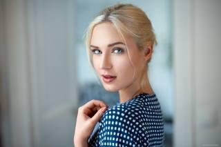 женщины, блондинка, лицо