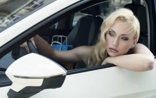девушка, водитель, Авто, внимание