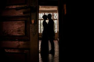 bathroom, silhouettes, lovers, PAIR