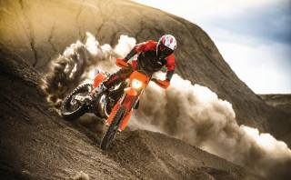KTM, the bike, motorcycle, hills, speed