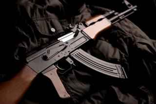 machine, closeup, AK-74
