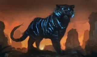 art, fantasy, creative, tiger, predator