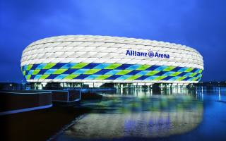футбольный стадион, альянс арена, Бавария Мюнхен, современные спортивные сооружения, Allianz Stadium