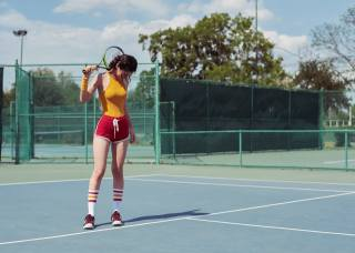 girl, tennis, sports, tennis court