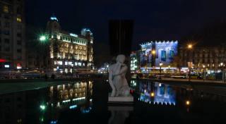 Іспанія, вдома, скульптура, Барселона, ліхтарі, Ночь Город
