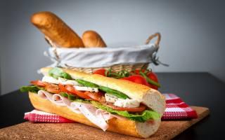 сандвич, томаты, багет