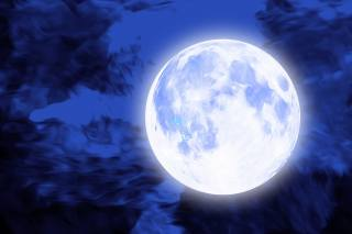 the moon, the full moon, the sky, night, 3D graphics