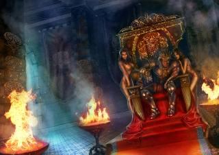 царь, правитель, трон, огонь