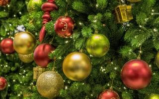 tree, Toys, Balls, holiday, New year, Christmas