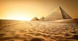 пісок, бархани, Єгипет, Сфінкс, Піраміди