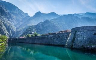cтарый город, Котор, the lake, tower, Кампана, dam, Montenegro, summer