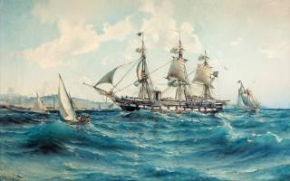Герман Густав аф Силлен, Herman Gustav af Sillen, 1890, винтовой, фрегат, Ванадис в Средиземном море у берегов Северной Африки