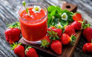 strawberry, juice, delicious