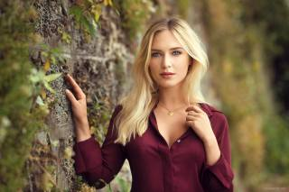 girl, model, photographer, Lods Franck, portrait, blonde, білявка, blue eyes, блакитні очі, view