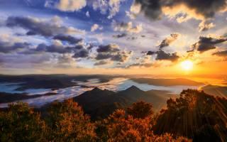 горы, природа, солнце, пейзаж, Голд-кост, Австралия
