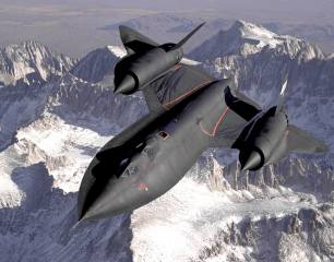 aviation, the plane, Fighter, LOCKHEED, sr-71, flight, the landscape, mountains