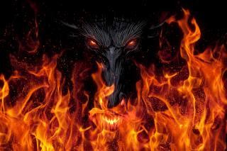 Дракон, демон, дьявол, Пламя, огонь, фэнтези