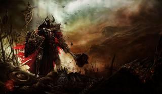 artwork, knight, battle