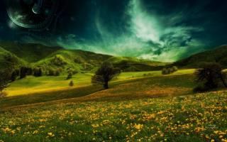 fantasy, nature, space