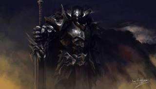 Воин, рыцарь, Меч, арт, фэнтези