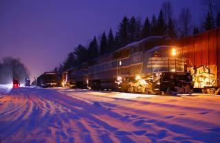 зима, тепловозы, локомотивы