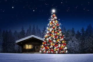 art, fantasy, svátek, vánoční strom