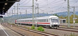 поезд, пути, перегон, экспресс, Германия