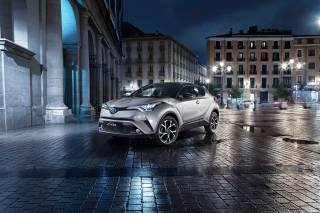 2016, Car, Toyota, C-HR, suv, the city, area, building, night