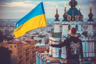 Flag, Ukraine, Ukraine, the temple, patriotism