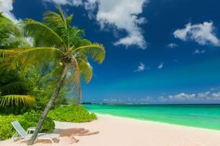 пляж, океан, небо