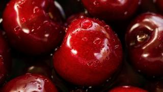 Red, fruit, apples, drops